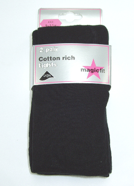 COTTON/LYCRA SOFT TIGHTS (TWIN-PACK)