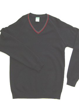 KCA V-Neck Pullover (Black/Red/Grey)
