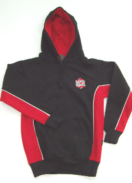KCA Unisex Sports Hooded Top (Black/Red/White)