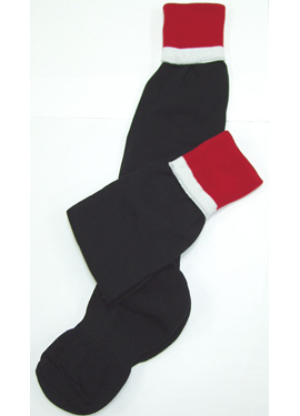 KCA Pro-Weight Sports Socks (Black/Red/White)