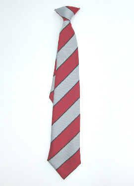 KCA Clip-on Tie (Black/Red/Silver)