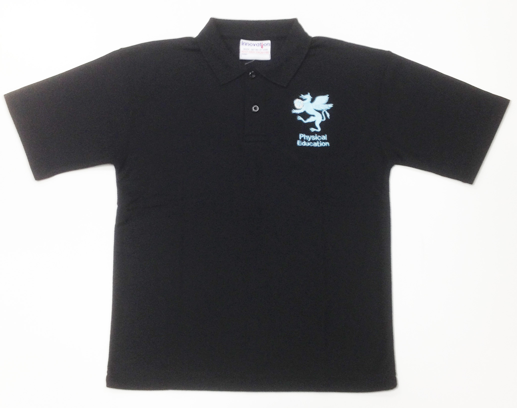 Mark Rutherford Sports Polo Shirt (Black With Logo)